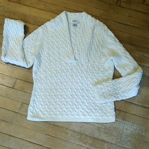 Talbots Petites Winter White  Sweater Size LP